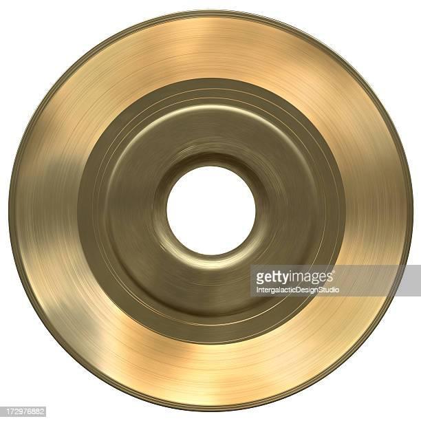 Einfarbige Gold 45 Mit Clipping Path