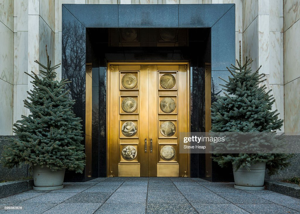 Solid golden doors of Washington DC Temple or Church of Jesus Christ of Latter-day & Solid Golden Doors Of Washington Dc Temple Or Church Of Jesus Christ ...