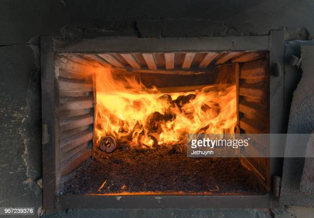 Solid waste in the furnace