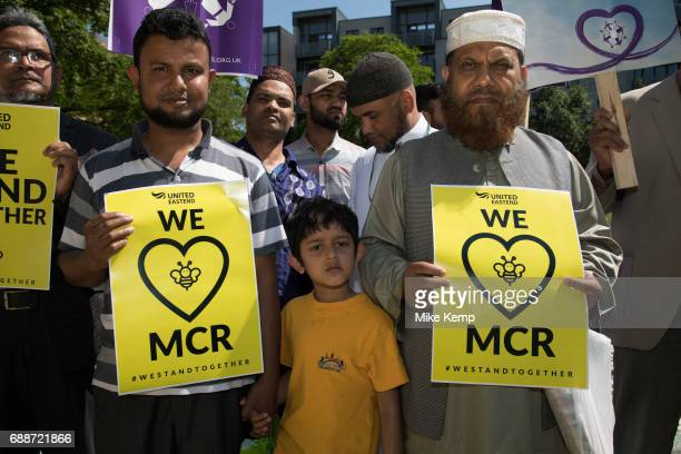 Solidarity gathering in remembrance of the Manchester attack victims in Altab Ali Park on May 26th 2017 in Whitechapel in East London United Kingdom...