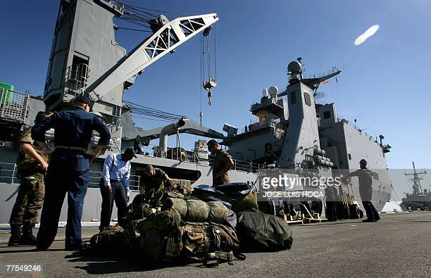 Soliders board the USS Fort McHenry at the Naval Station in Rota southern Spain to participate in the Africa Partnership Station Africa Parnership...