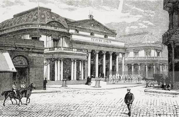 Solis Theatre Montevideo Uruguay illustration from the magazine The Graphic volume XXX no 777 October 18 1884
