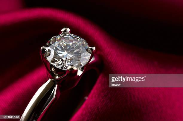 solitaire diamond ring - stone object stock pictures, royalty-free photos & images