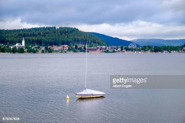 Solitary sailing boat.