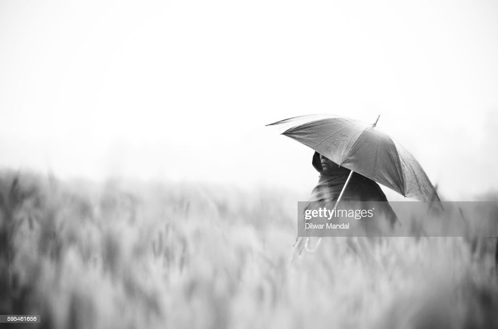 A Solitary Woman : Stockfoto