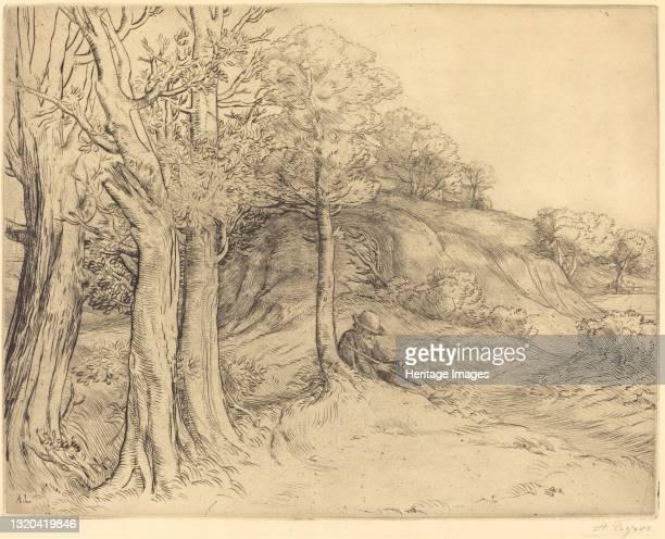 Solitude . Artist Alphonse Legros.