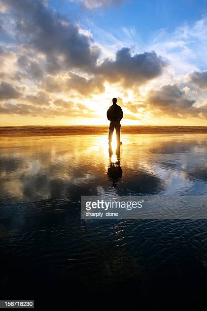 xxl solitude beach silhouette - jesus is alive stock pictures, royalty-free photos & images