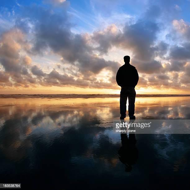 XL solitude beach silhouette
