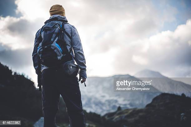 solitude in mountains - endurance stock photos and pictures
