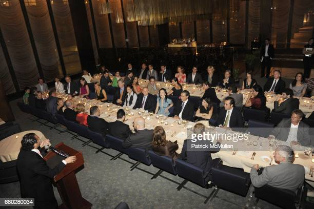 Solly Assa and Speech attend ENRIQUE NORTEN Private Dinner Celebrating the 25th Anniversary of TEN ARQUITECTOS at The Four Seasons Restaurant on June...