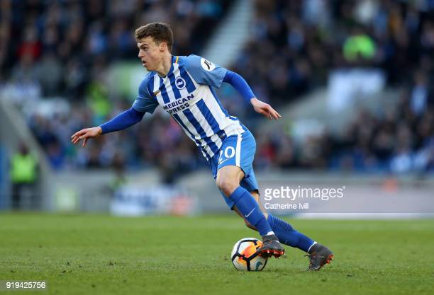 Solly March of Brighton and Hove Albion during the Emirates FA Cup Fifth Round match between Brighton and Hove Albion and Coventry City at Amex...