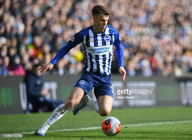 Solly March of Brighton Hove Albion in action during the Premier League match between Brighton Hove Albion and Crystal Palace at American Express...