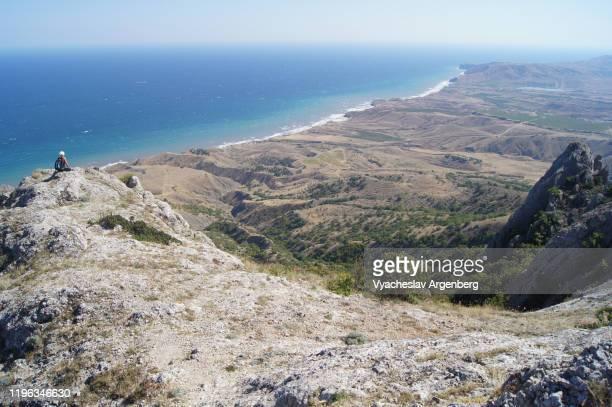 solnechnaya valley (qoz) as seen from echkidag, crimea - argenberg fotografías e imágenes de stock