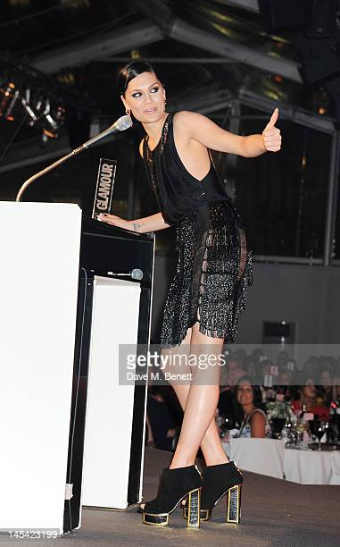 Solo Artist Of The Year Jessie J accepts her award at the Glamour Women of the Year Awards in association with Pandora at Berkeley Square Gardens on...