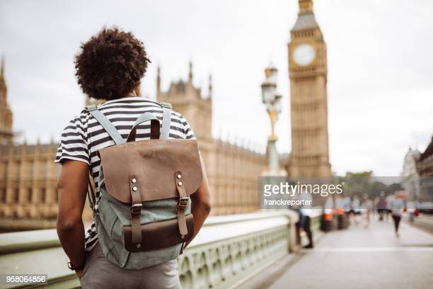 solo backpacker in london - tourist stock pictures, royalty-free photos & images