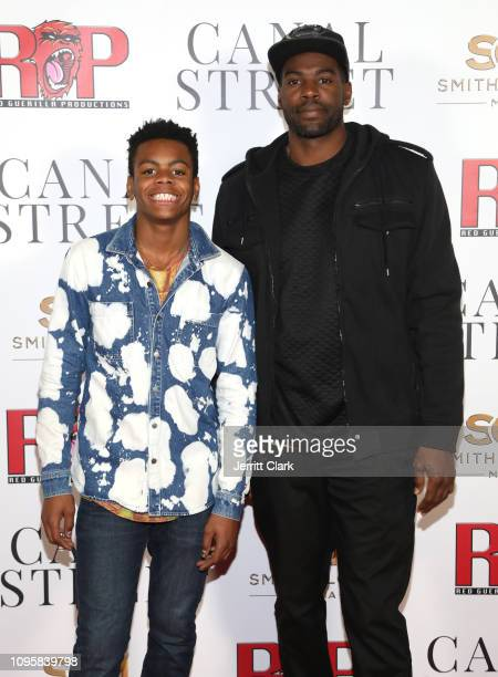 Solo Bailey and Sheldon Bailey attend Smith Global Media's World Premiere Of 'Canal Street' at ArcLight Hollywood on January 17 2019 in Hollywood...