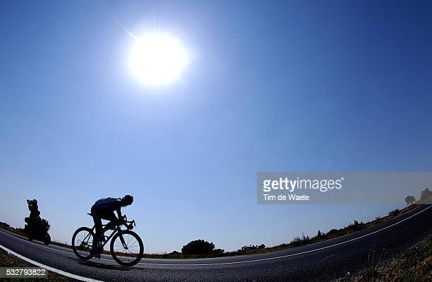 Solo effort during stage 14 of the 2005 Tour de France between Agde and Ax-3-Domaines.