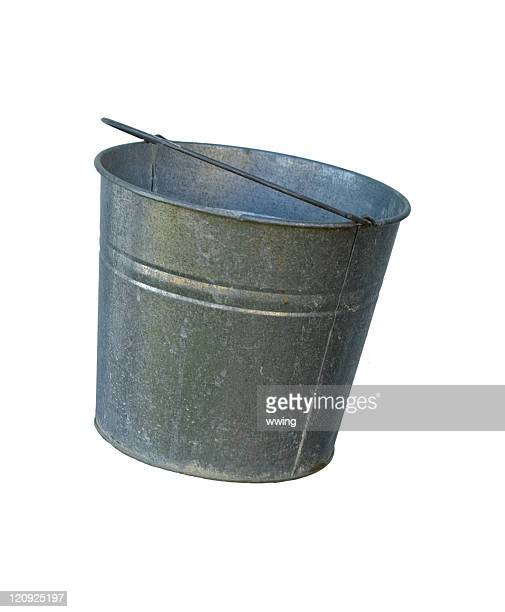 Solo metal bucket, on a white background