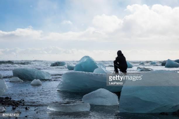 Solo traveler exploring Iceland