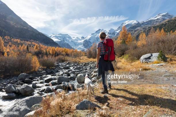 Solo traveller hiking in Switzerland