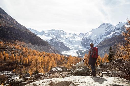 Solo traveller hiking in Switzerland - gettyimageskorea