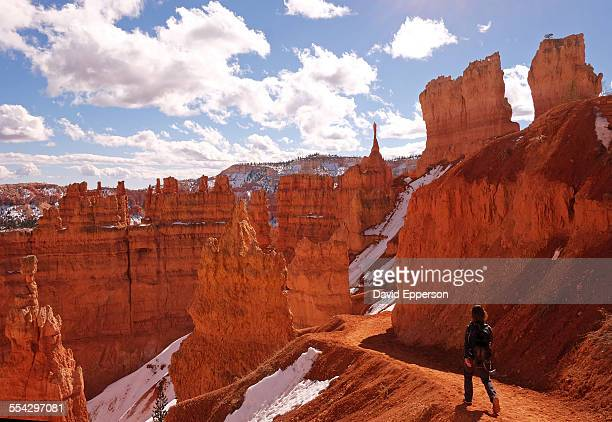 Solo woman hiking in Bryce National Park