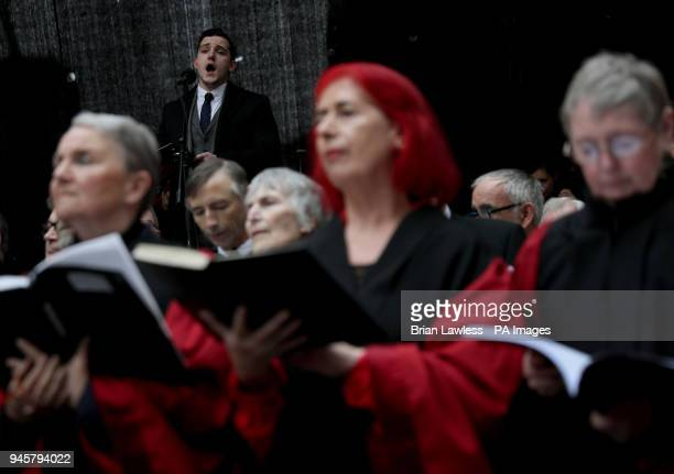 Soloist Peter O'Reilly during a performance by Our Lady's Choral Society and The Dublin Handelian Orchestra on Fishamble Street in Dublin to...