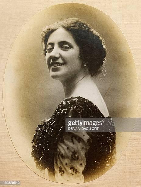Solomiya Krushelnytska Ukrainian soprano in 1910 at Viareggio Italy Torre Del Lago Puccini Museo Villa Puccini