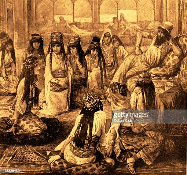 Solomon and his Harem by J James Tissot Illustration to Book of Kings I 113 'And he has seven hundred wives princesses and three hundred concubines...