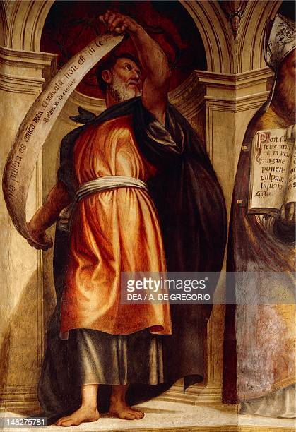 Solomon by Giovanni Antonio da Pordenone Church of the Annunciation St Anne's Chapel Cortemaggiore Italy