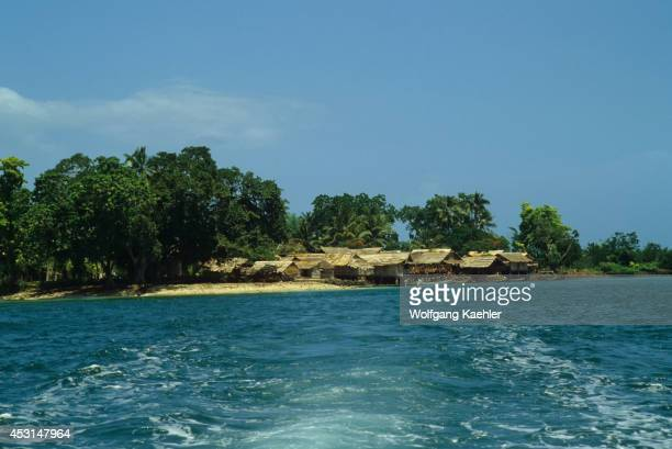 Solomon Islands Malaita Island Village View From The Sea