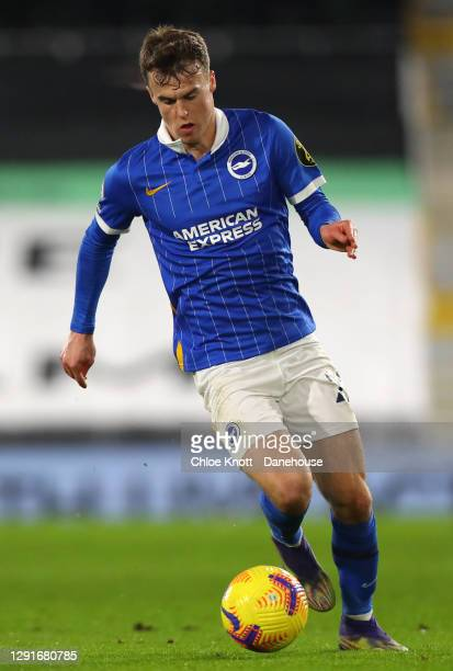 Solomon March of Brighton and Hove Albion during the Premier League match between Fulham and Brighton & Hove Albion at Craven Cottage on December 16,...