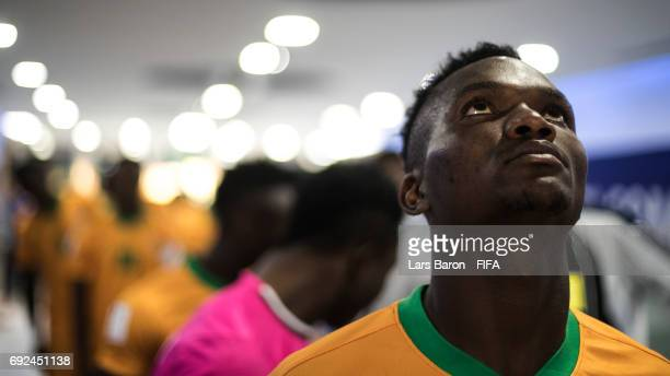 Solomon Sakala of Zambia looks on in the tunnel prior the FIFA U-20 World Cup Korea Republic 2017 Quarter Final match between Italy and Zambia at...