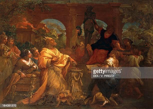 Solomon worshipping idols by Lazzaro Baldi painting Rome Galleria Spada