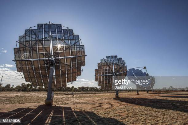 solor power discs in the australian outback - sustainable architecture stock pictures, royalty-free photos & images