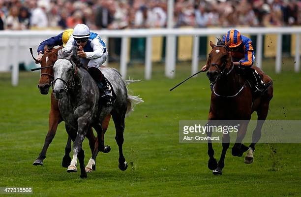 Solow ridden by jockey Maxime Guyon wins the Queen Anne Stakes during Royal Ascot 2015 at Ascot racecourse on June 16 2015 in Ascot England
