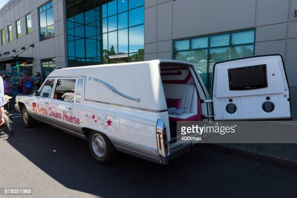 solstice parade - hearse stock pictures, royalty-free photos & images