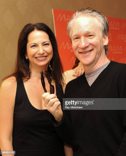 67ccf0cc7fdbc Solstice s Eden Wexler and actor Bill Maher in Alexander McQueen 4108 sunglasses  pose with the Solstice