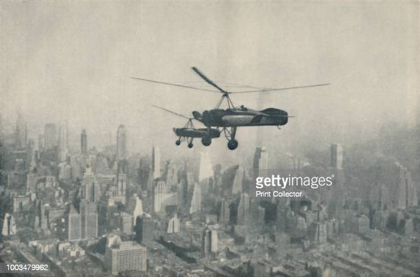 Solution of Aerial Transport Problems in Cities Aeroplanes That Require No Aerodromes' circa 1935 Pitcairn autogiros over New York America From Our...