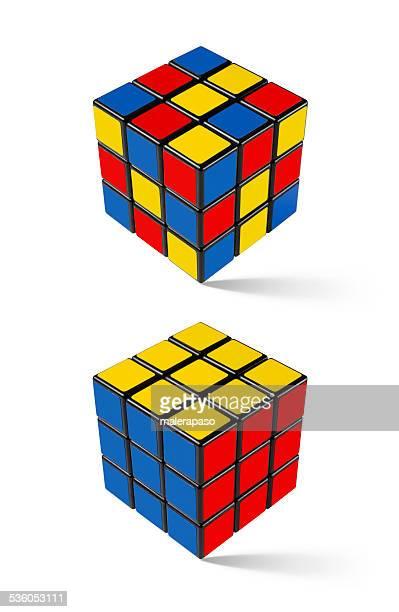 Lösung. Rubik's Cube.