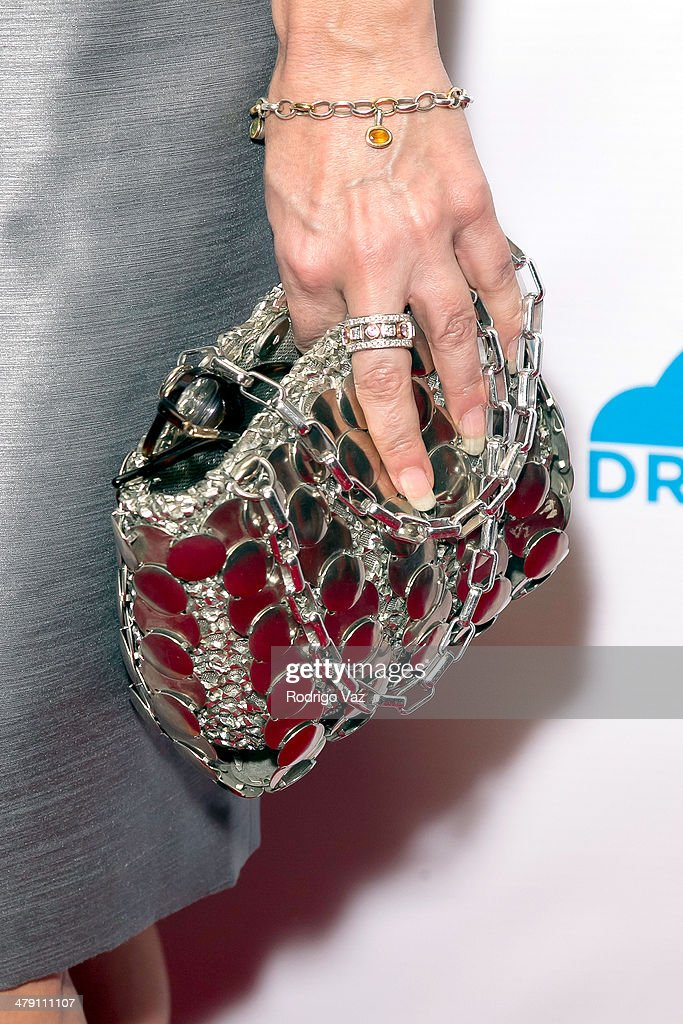 Solutions President Toshia Wildasin (clutch detail) attends The Dream Builders Project 'A Brighter Future For Children' at H.O.M.E. on March 15, 2014 in Beverly Hills, California.