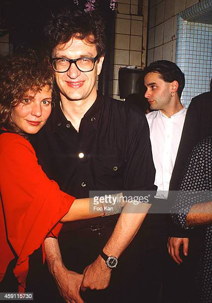 Solveig Dommartin and Wim Wenders attend a fashion week Party at Les Bains Douches in the 1990s in Paris France