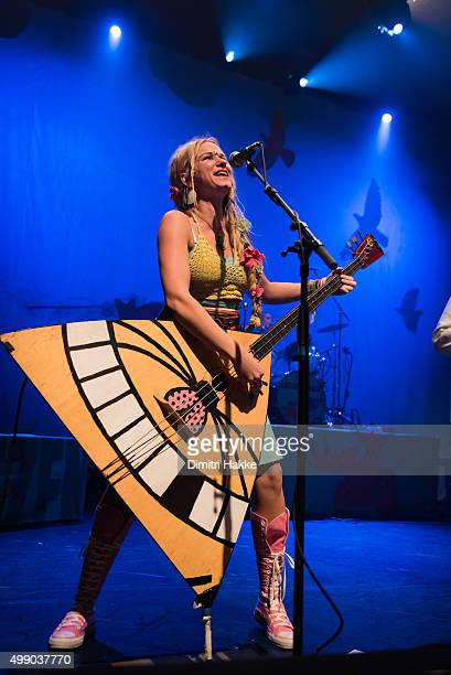 Solveig Heilo of Katzenjammer performs on stage at Paard on November 21 2015 in The Hague Netherlands