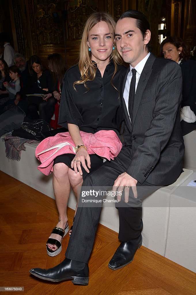 Solveig Karadotti and Dhani Harrison attend the Stella McCartney Fall/Winter 2013 Ready-to-Wear show as part of Paris Fashion Week on March 4, 2013 in Paris, France.