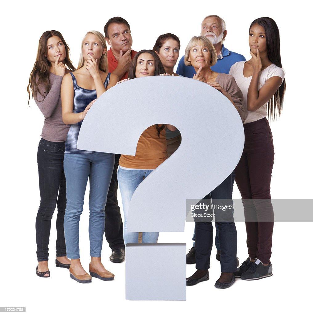 Solving life's BIG questions : Stock Photo