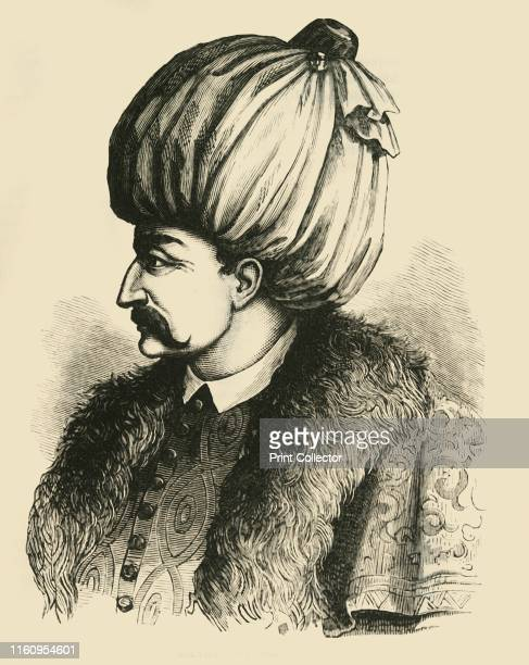 """Solyman the Magnificent', circa 1530-1540, . Suleyman the Magnificent longest-reigning Sultan of the Ottoman Empire from 1520-1566. From """"Cassell's..."""
