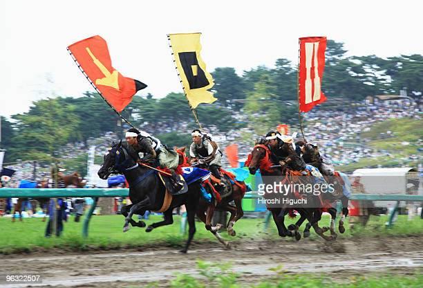 soma nomaoi samurai festival - soma nomaoi festival ストックフォトと画像