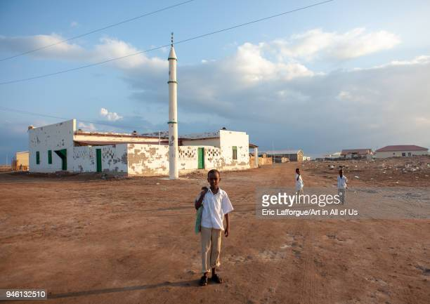 Somali boys in front of a mosque, Awdal region, Zeila, Somaliland on November 21, 2011 in Zeila, Somaliland.