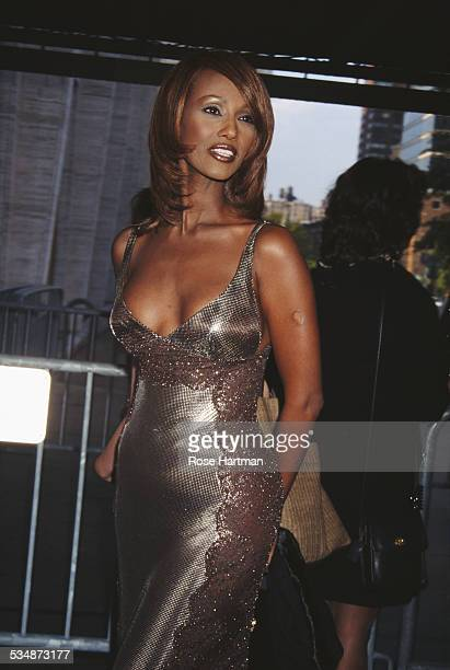 Somali fashion model actress and entrepreneur Iman attends the 24th Annual FiFi Awards at the Lincoln Center New York City USA 1996