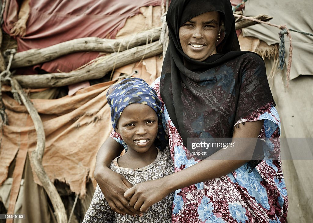 Somali Mother and Daughter : Stock Photo